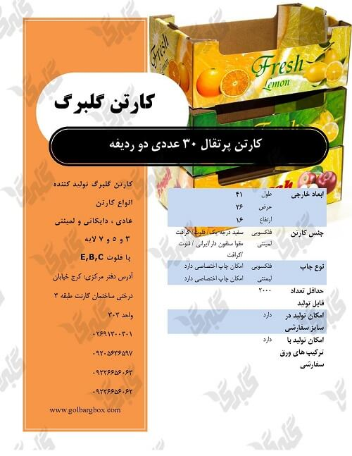 کارتن پرتقال 30 عددی