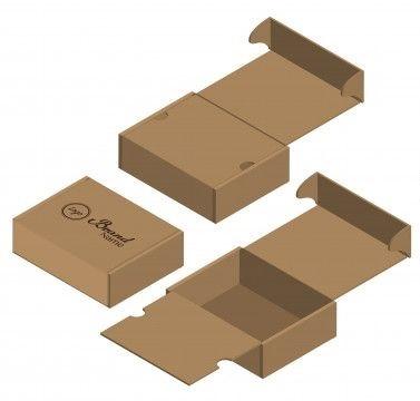 انواع جعبه های مقوایی_همپوشانی کامل