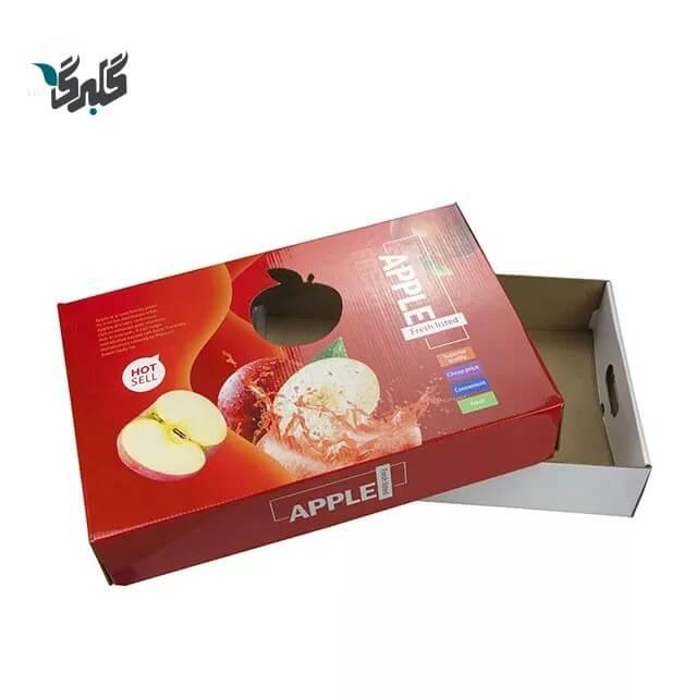 کارتن بسته بندی سیب صادراتی