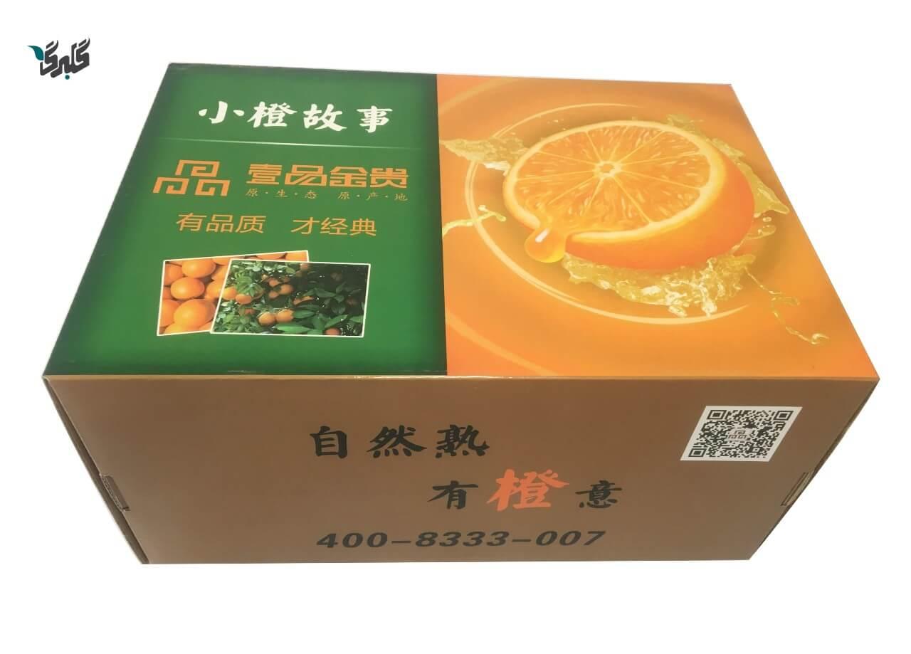 کارتن پرتقال و میوه صادراتی
