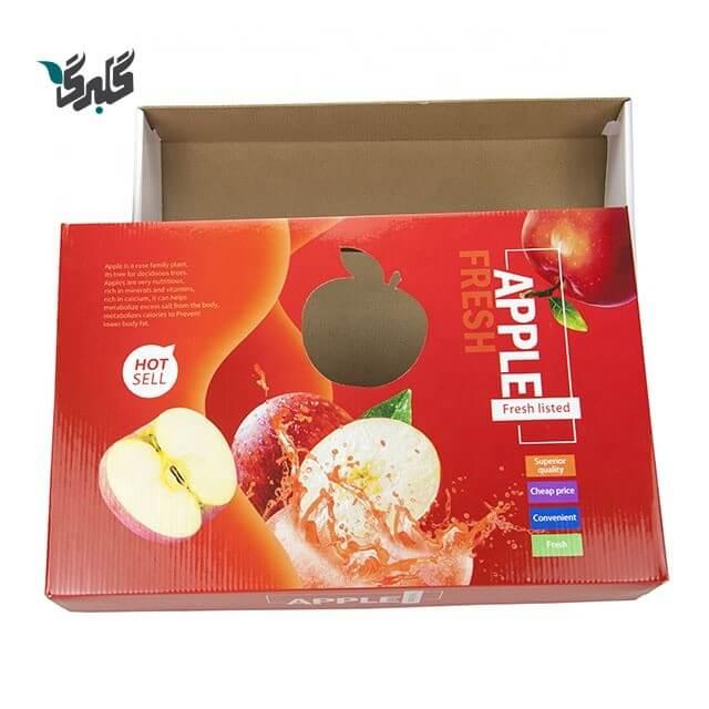 نمونه کارتن سیب تولید شده در کارتن سازی گلبرگ باکس