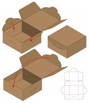 انواع جعبه های مقوایی-جعبه قفل خودکار